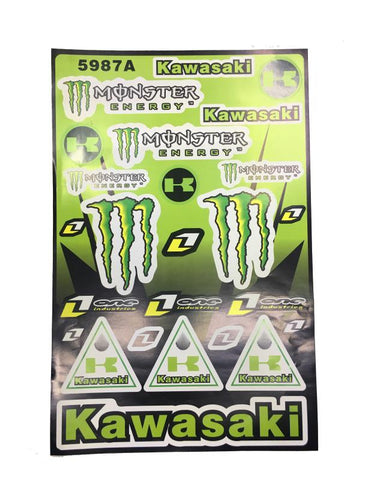 Set de Calcomanias Kawasaki Ninja - Brotherhood Biker Store