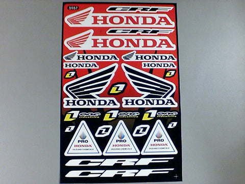 Planilla de Calcomanias Honda Grande - Brotherhood Biker Store
