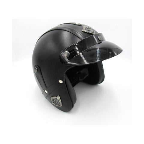 Chopper Vinipiel Negro Liso - Brotherhood Biker Store