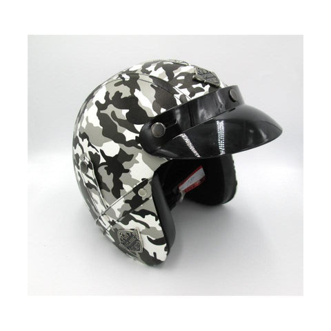 Chopper Vinipiel Camo Gris - Brotherhood Biker Store