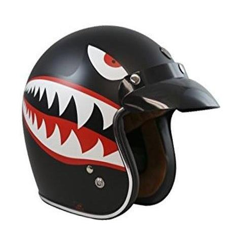Casco Torc T50 Negro Flying Tiger - Brotherhood Biker Store