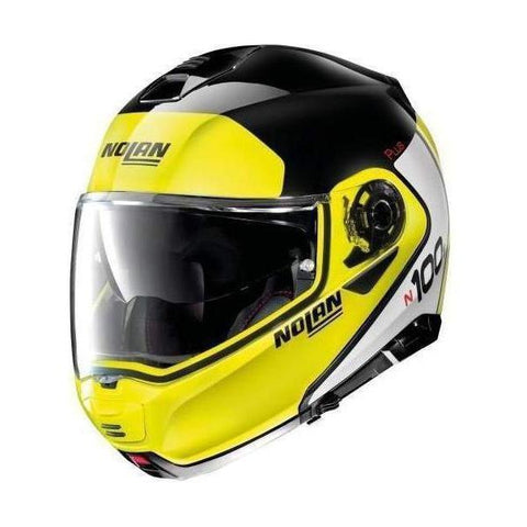 Nolan N100-5 Plus Distinctive 21 Negro Amarillo LED - Brotherhood Biker Store