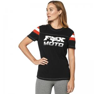 PLAYERA FOX DAMA SS CHARGER NEGRO - Brotherhood Biker Store