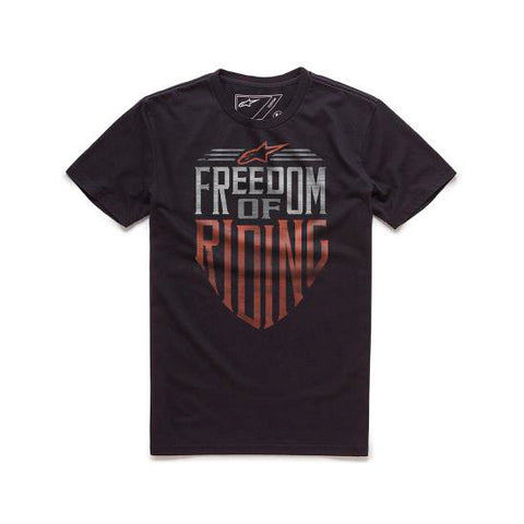 Playera Alpinestars Freedom Negro - Brotherhood Biker Store