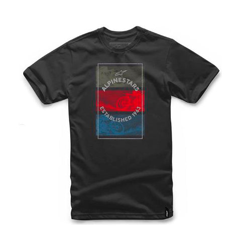 Playera Alpinestars Burnt Negro - Brotherhood Biker Store