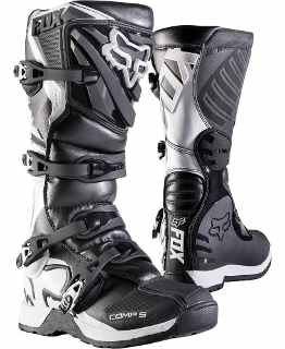 BOTA FOX COM 5 NEGRO - Brotherhood Biker Store