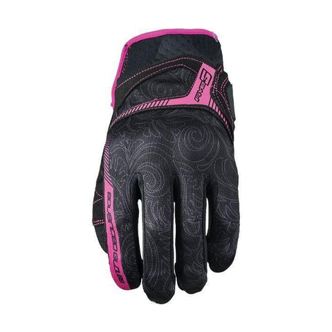 Guantes Five Rs3 Woman Negro Rosa Mh&s