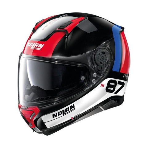 Nolna N87 Plus Distinctive Blanco Rojo Negro - Brotherhood Biker Store