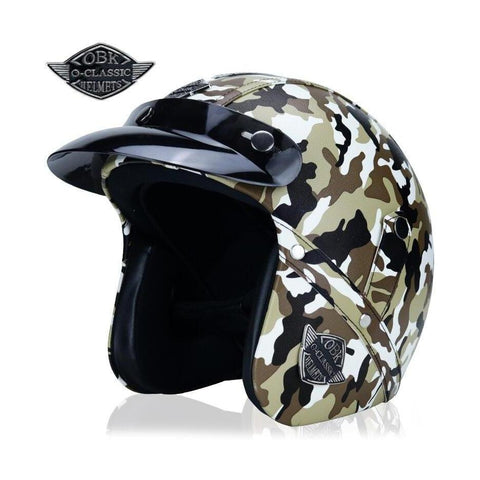 Casco Chopper 3/4 Cammo Café - Brotherhood Biker Store