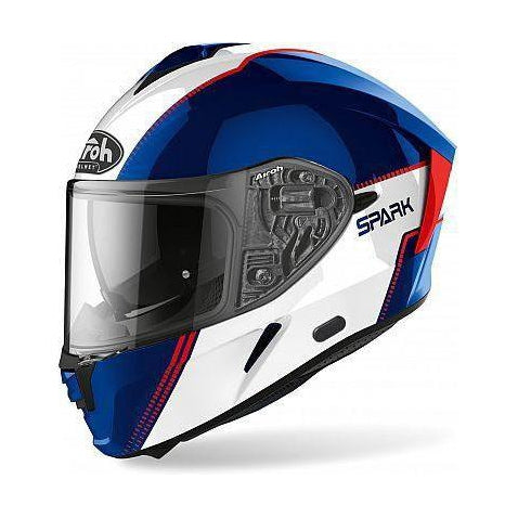 Casco Airoh Spark Flow Blue Red Gloss
