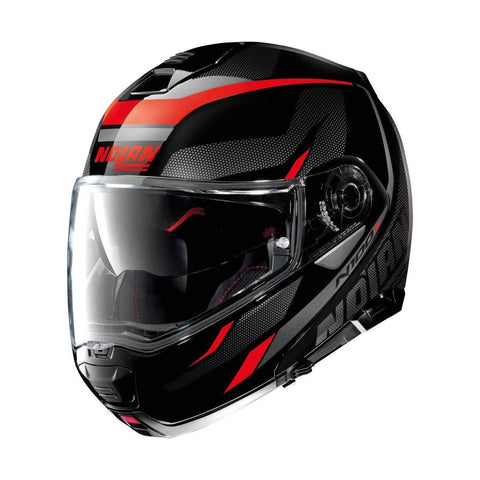Casco Nolan N100-5 Lumiere Rojo - Brotherhood Biker Store