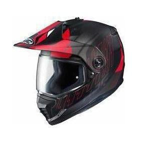 Casco HJC DS-X1 Motar Gravity Negro Rojo - Brotherhood Biker Store