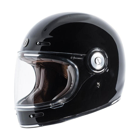 Casco T1 Negro Brillante - Brotherhood Biker Store