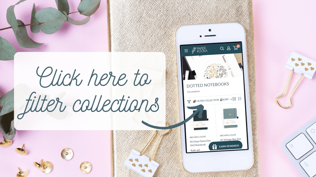 Paper Kooka collections filter mobile