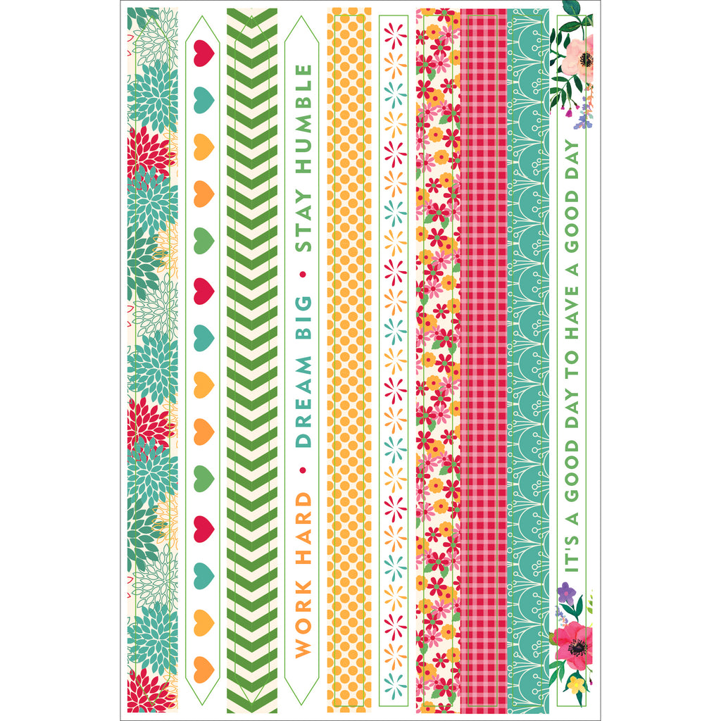 Borders & Frames Planner Stickers - 12 sheets - Paper Kooka