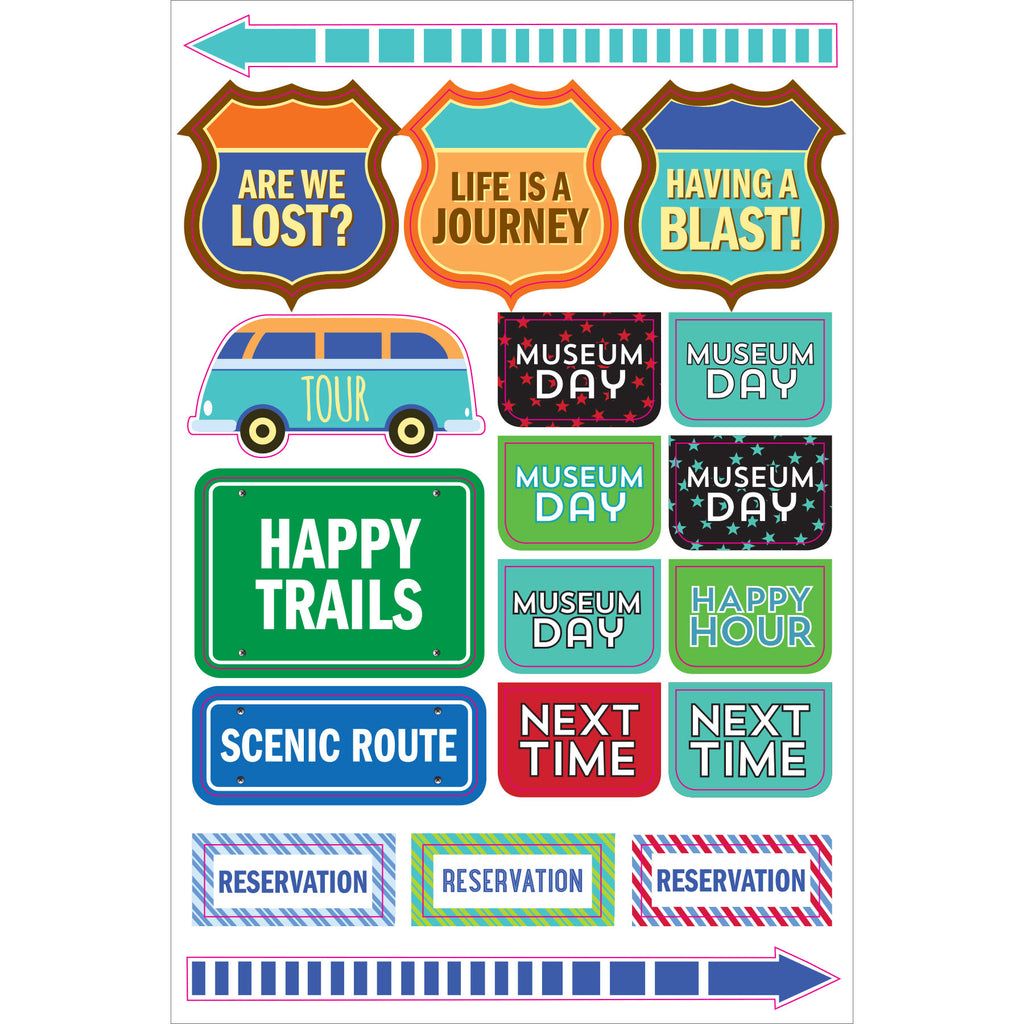 Travel Planner Stickers - 12 sheets - Have a Point