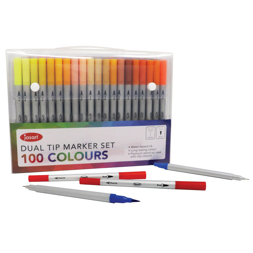 Jasart Dual Brush Pen - 100 Colour Set - Have a Point