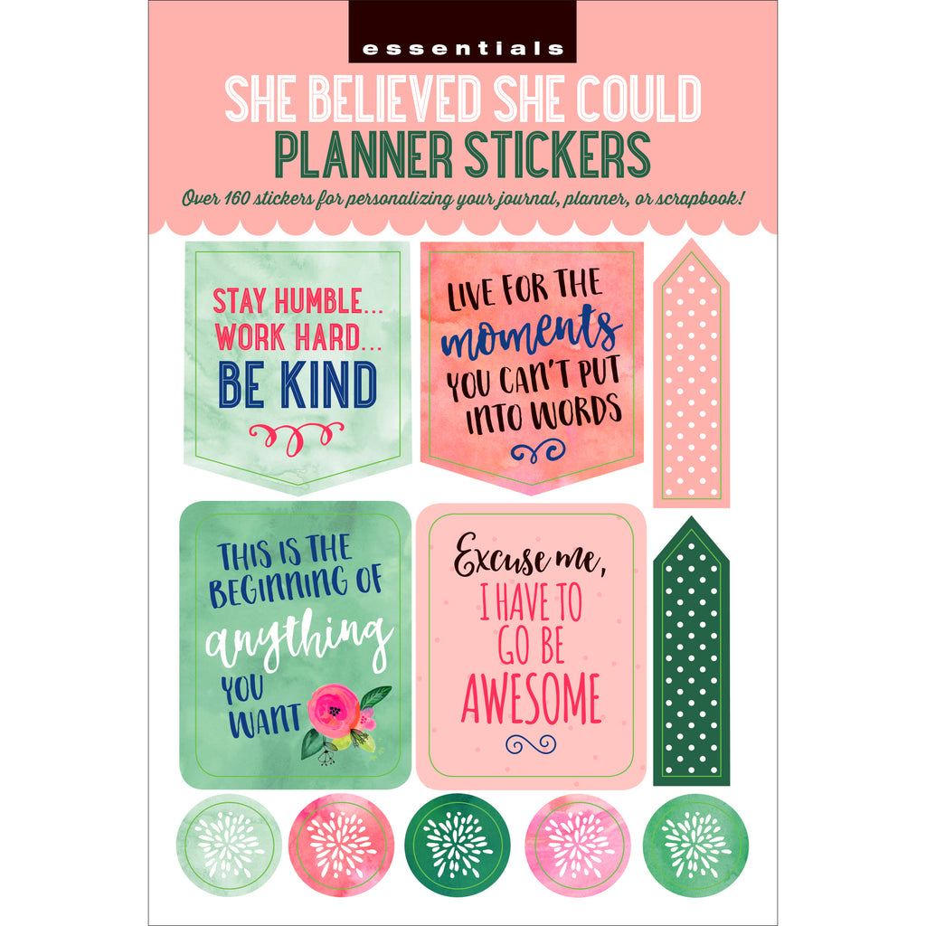'She Believed' Planner Stickers - 12 sheets - Have a Point