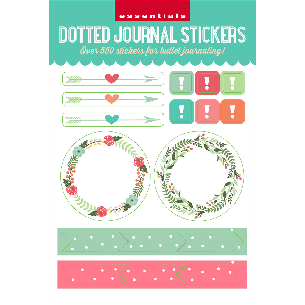 Dotted Journal Planner Stickers - 12 sheets - Paper Kooka