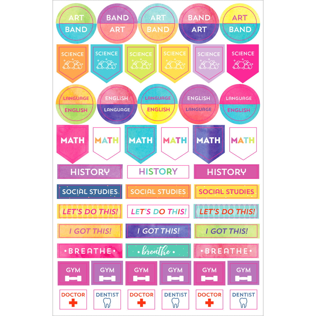 Student Planner Stickers - 12 sheets - Have a Point