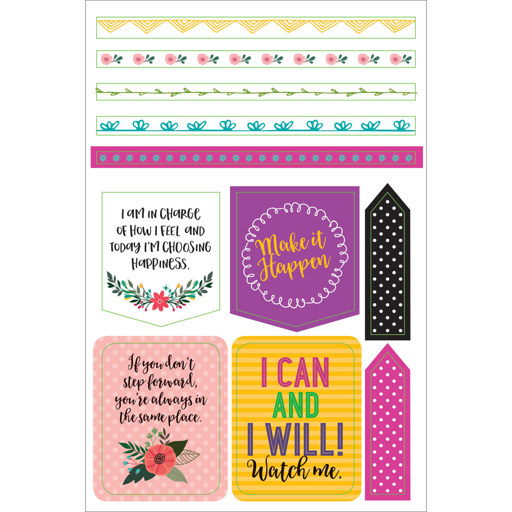 Wake Up. Kick Ass. Planner Stickers - 12 sheets - Paper Kooka
