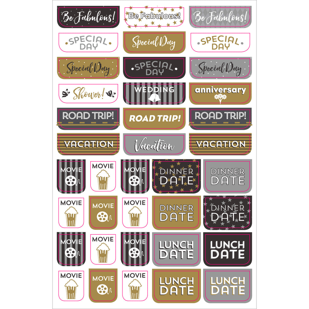 'Black & Gold' Weekly Planner Stickers - 12 sheets - Have a Point
