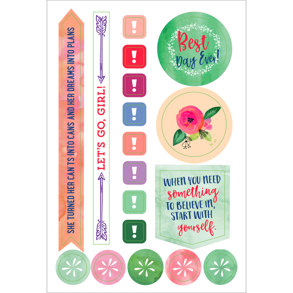 She Believed Planner Stickers - 12 sheets - Paper Kooka
