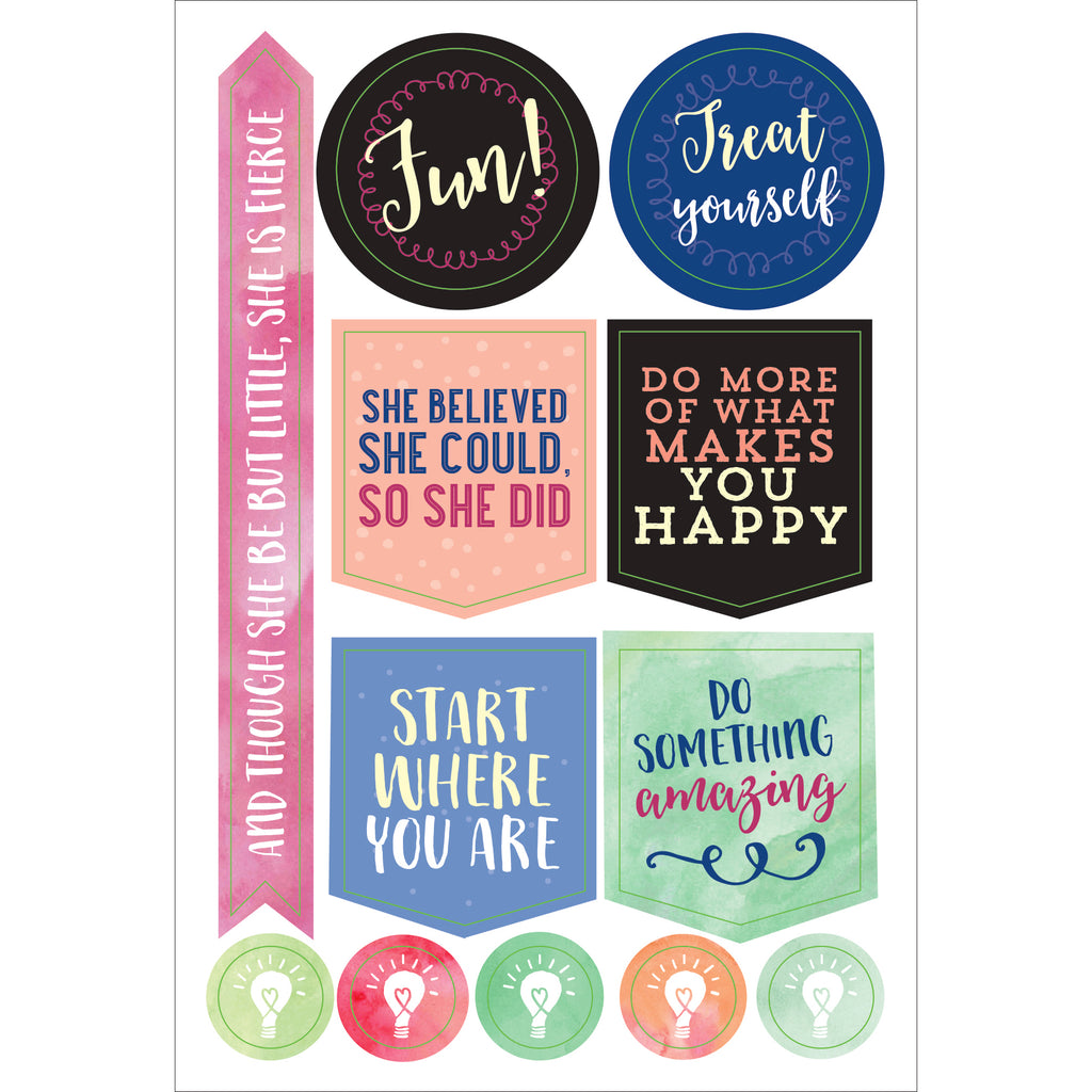 'She Believed' Planner Stickers - 12 sheets - Paper Kooka