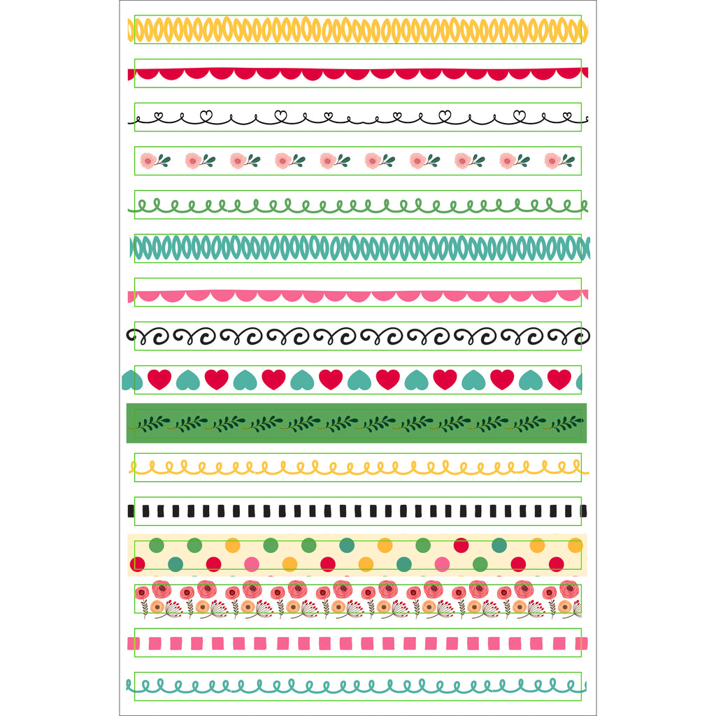 'Borders & Frames' Planner Stickers - 12 sheets - Have a Point