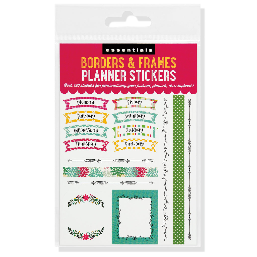 'Borders & Frames' Planner Stickers - 12 sheets - Paper Kooka