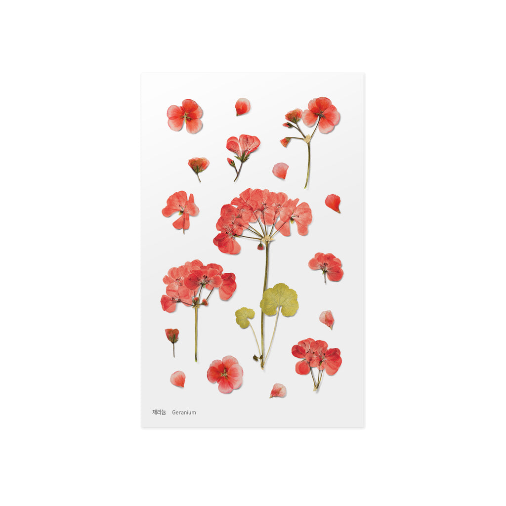 Pressed Flower Stickers - Geranium - Have a Point