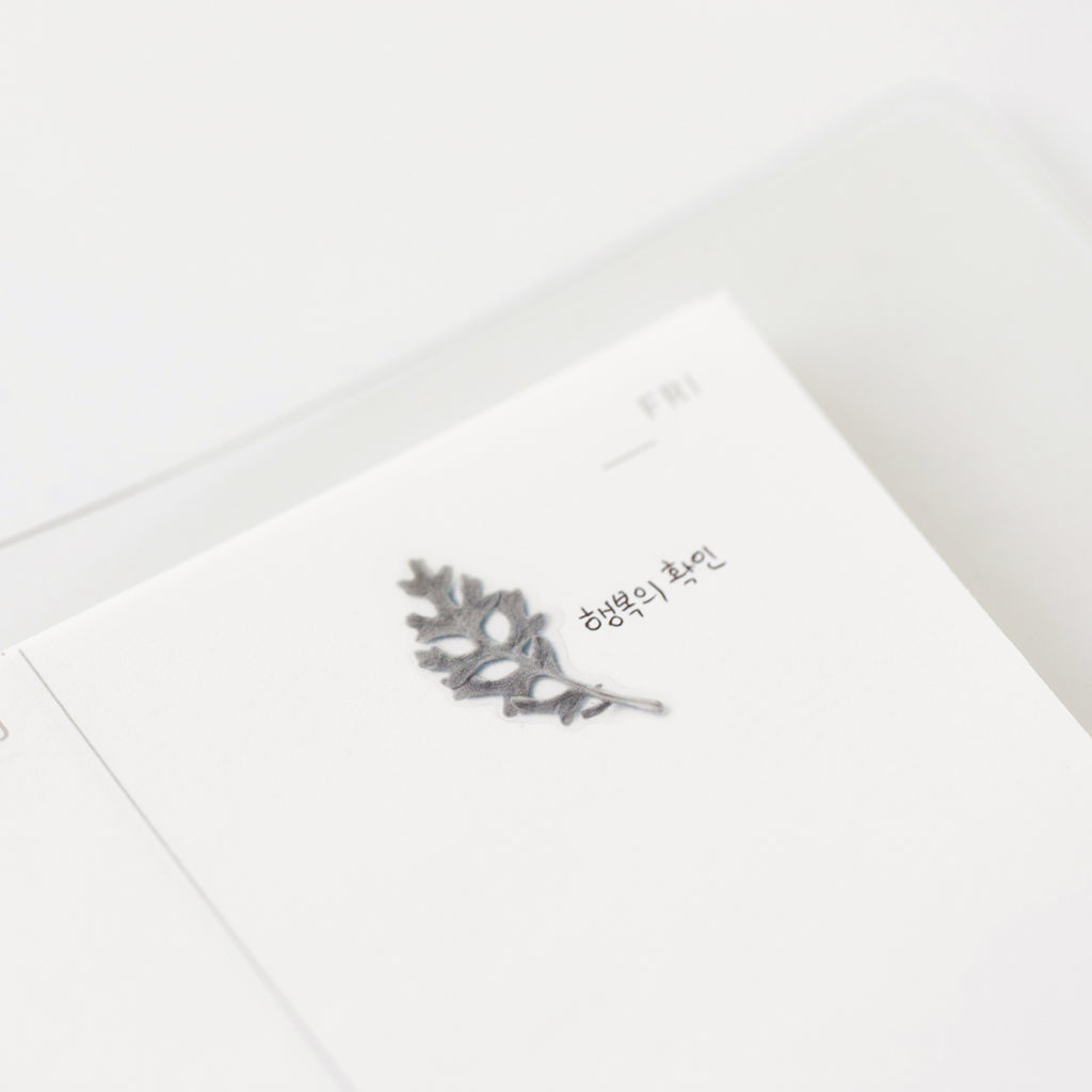 Pressed Flower Stickers - Dusty Miller - Paper Kooka