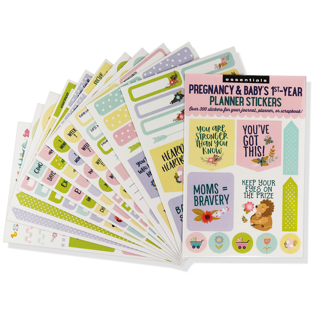 Pregnancy & Baby's 1st-Year Planner Stickers - 12 sheets - Paper Kooka