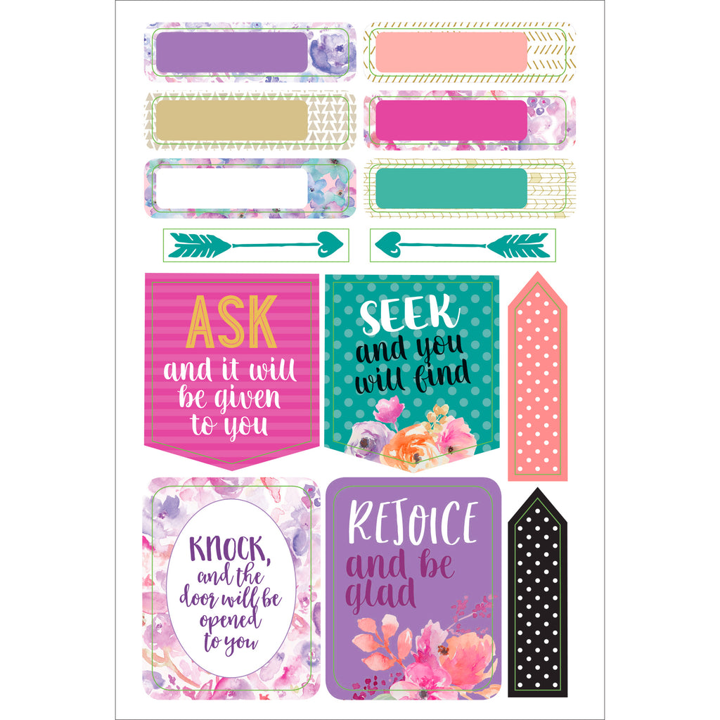 Faith Planner Stickers - 12 sheets - Paper Kooka