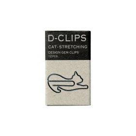 Stretching Cat Paper Clips - Midori D-Clip - 12pcs - Have a Point