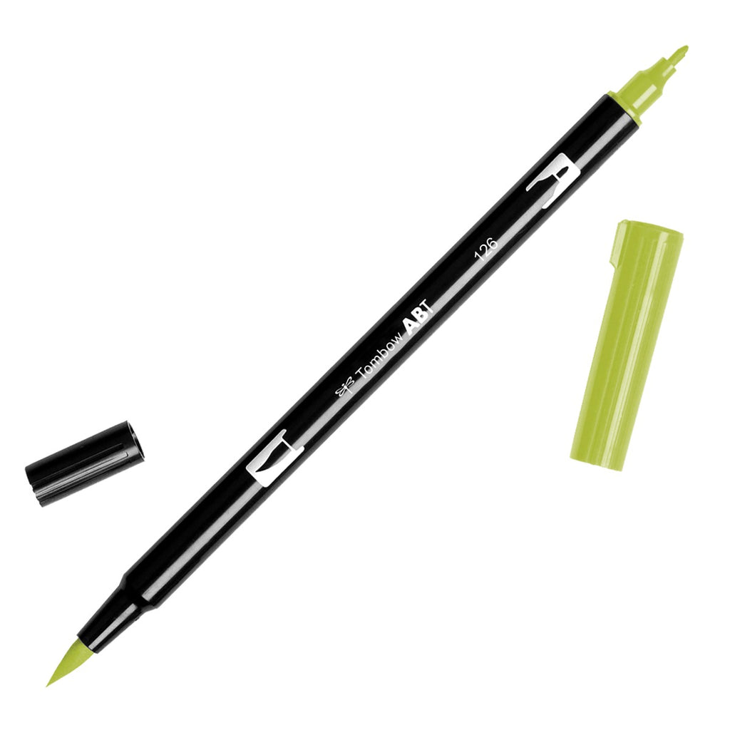 Dual Brush Pen - yellow green range - SINGLE PENS - Paper Kooka