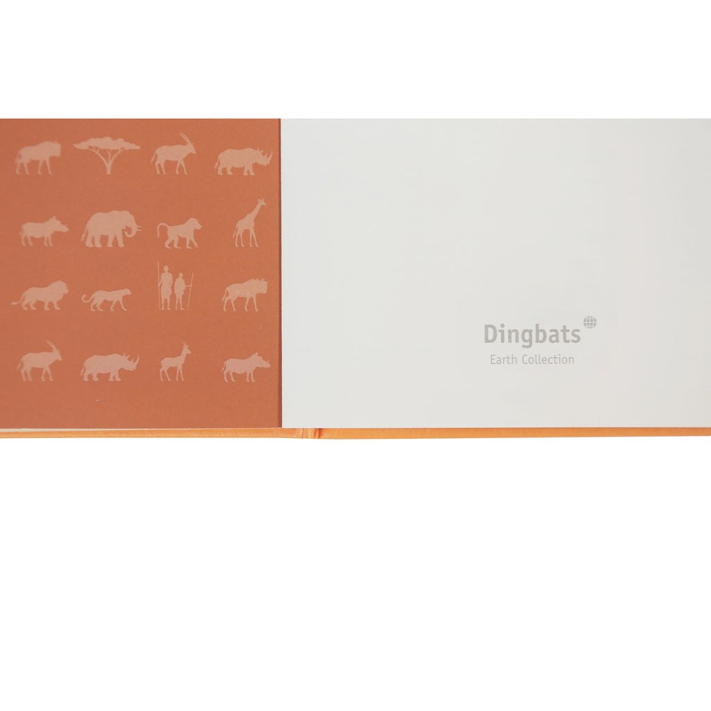 EARTH - Tangerine Serengeti - dotted & numbered A5+ journal - Dingbats* - Have a Point