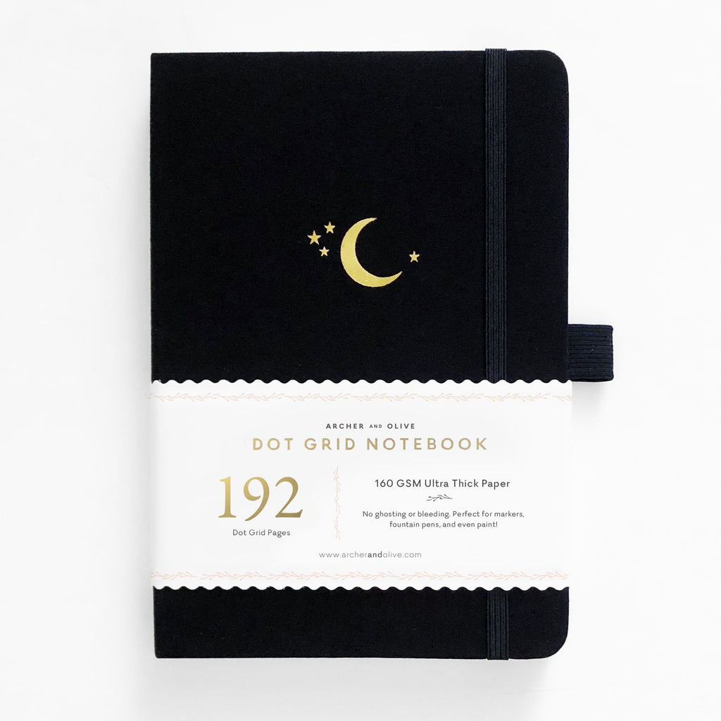Archer & Olive Crescent Moon - A5 dotted, 160gsm journal >192 pages< - Have a Point
