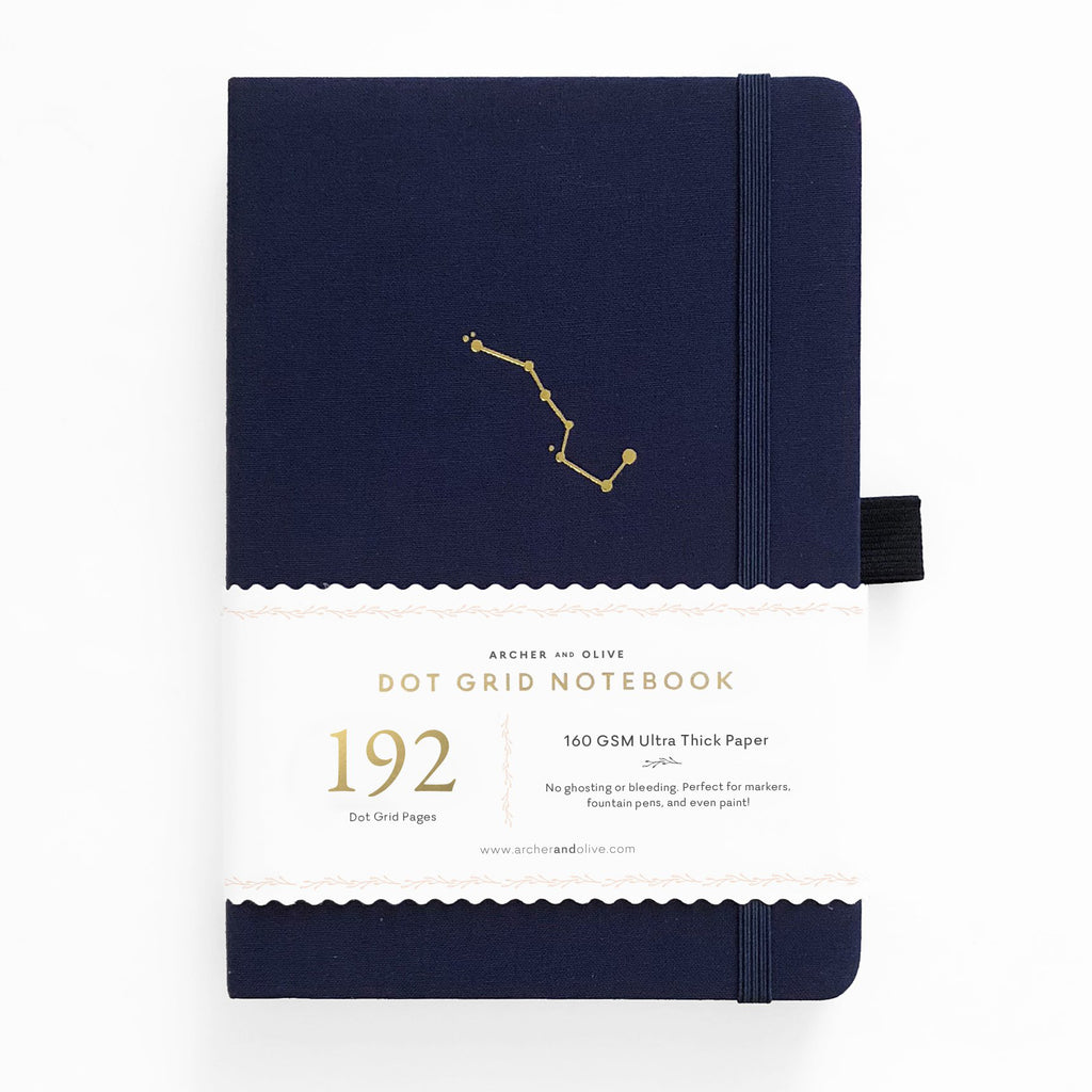 A5 Night Sky 192 Pages Dot Grid Notebook - Paper Kooka