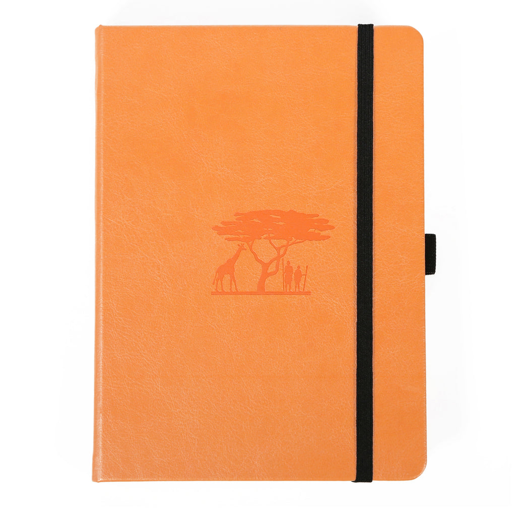 Dingbats* EARTH - Tangerine Serengeti dotted A5+ journal - Have a Point