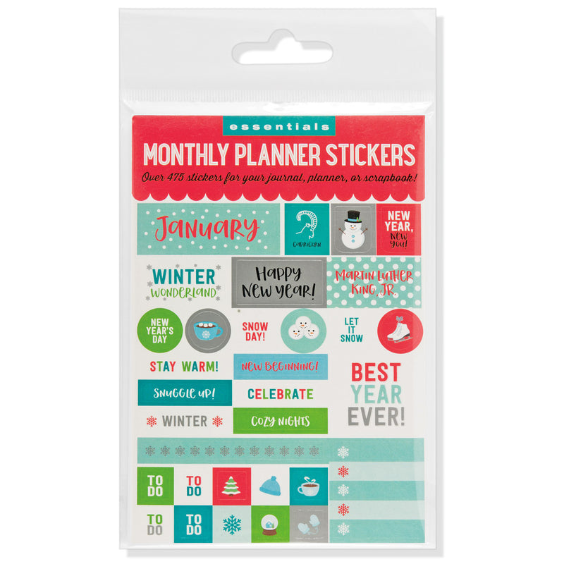 Monthly Planner Stickers - 12 sheets - Paper Kooka