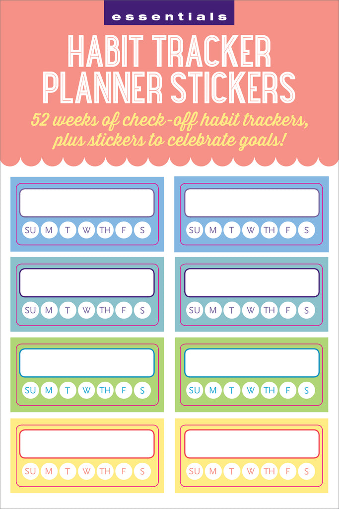 'Habit Tracker' Planner Stickers - 12 sheets - Have a Point