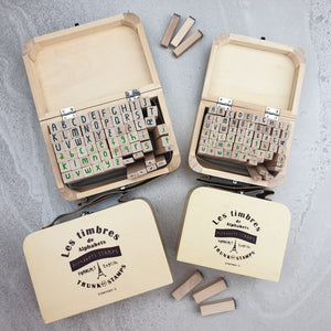 Hand Made Timber & Rubber Alphabet Stamps