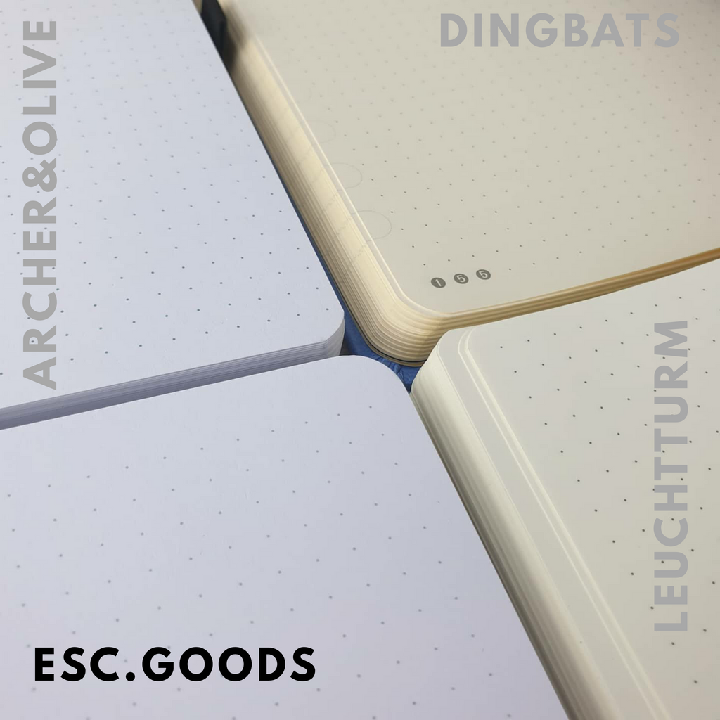 ESC. GOODS Sky Grey - A5 dotted, 160gsm journal - Paper Kooka