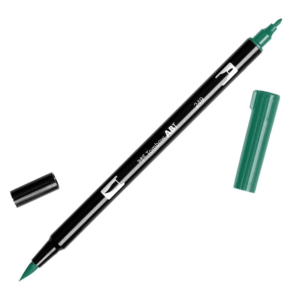 Dual Brush Pen - green range - SINGLE PENS - Paper Kooka