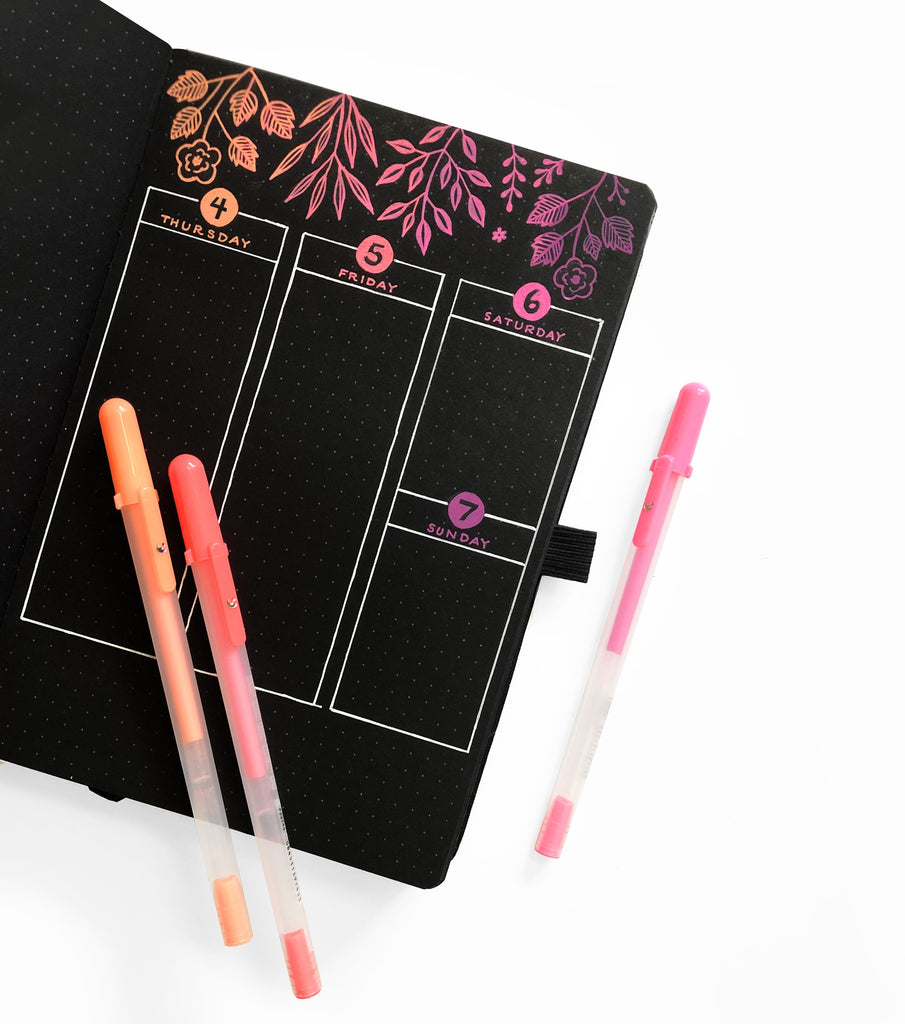 Shooting Star BLACKOUT Book - dotted black pages - Archer & Olive - Have a Point