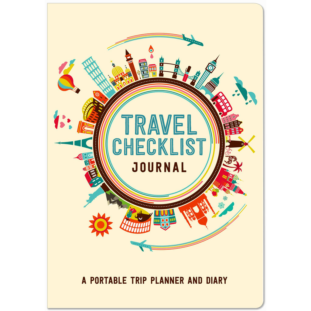 Travel Checklist Journal - Portable Trip Planner & Diary - Paper Kooka
