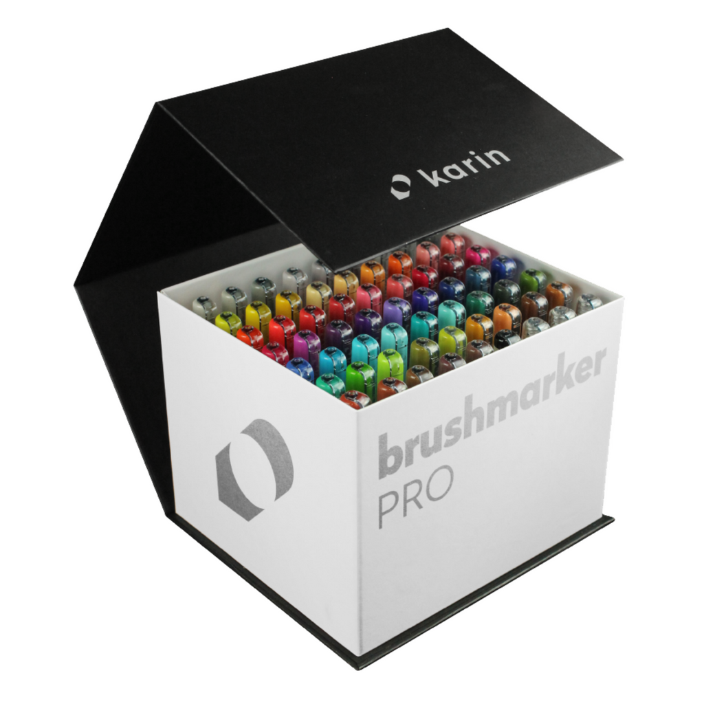 BrushmarkerPRO MegaBox - 60 colours + 3 blenders set - Paper Kooka