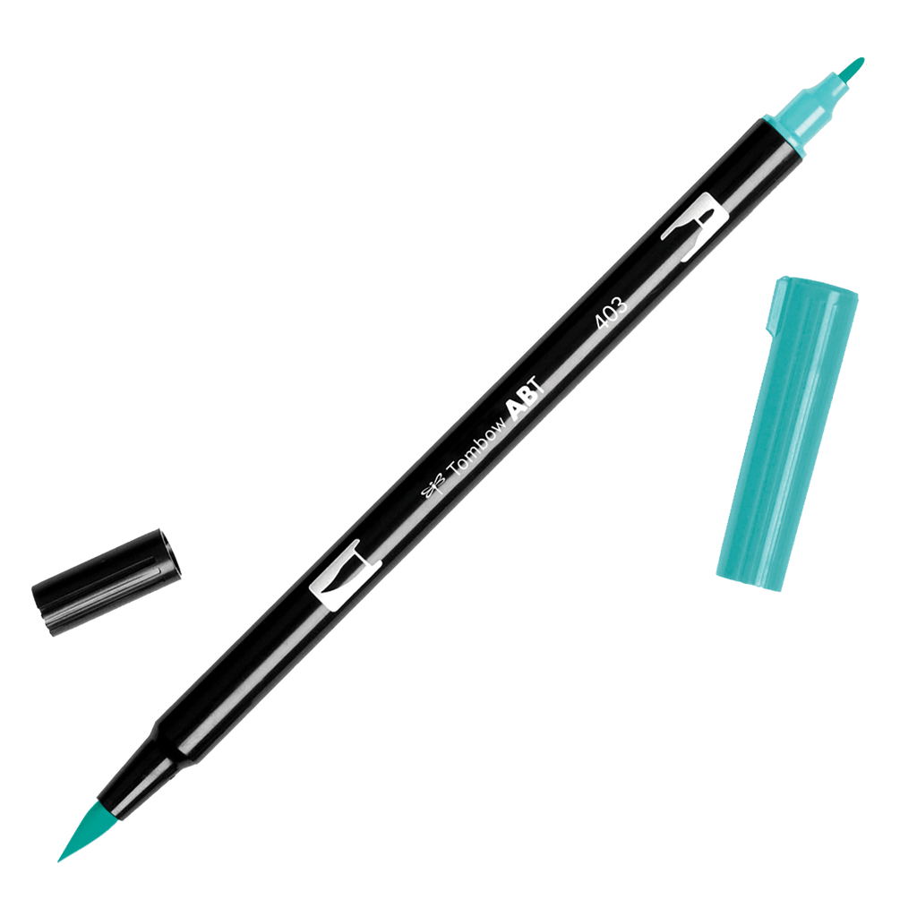 Tombow Dual Brush Pen - Blue Green Colour Range - Have a Point
