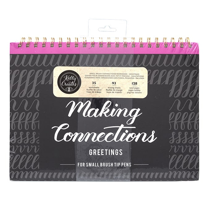 Small Brush Connections - Greetings Lettering Workbook - Paper Kooka